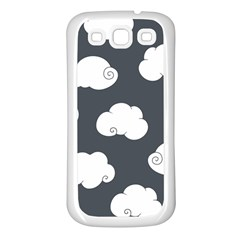 Cloud White Gray Sky Samsung Galaxy S3 Back Case (white) by Alisyart