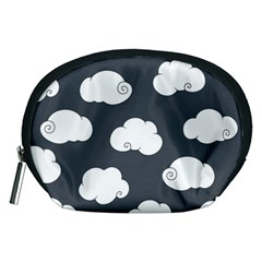 Cloud White Gray Sky Accessory Pouches (medium)  by Alisyart