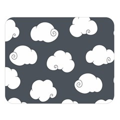 Cloud White Gray Sky Double Sided Flano Blanket (large)  by Alisyart