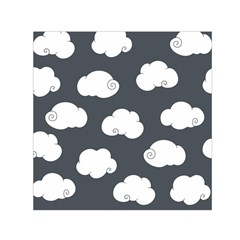 Cloud White Gray Sky Small Satin Scarf (square)