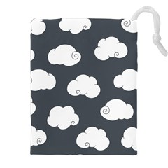 Cloud White Gray Sky Drawstring Pouches (xxl) by Alisyart