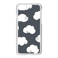 Cloud White Gray Sky Apple Iphone 7 Seamless Case (white) by Alisyart