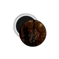 Coffe Break Cake Brown Sweet Original 1 75  Magnets by Alisyart
