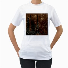Coffe Break Cake Brown Sweet Original Women s T Shirt (white) (two Sided)
