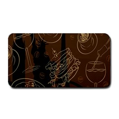 Coffe Break Cake Brown Sweet Original Medium Bar Mats by Alisyart