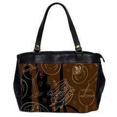 Coffe Break Cake Brown Sweet Original Office Handbags (2 Sides)
