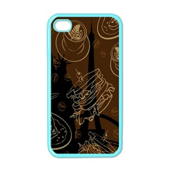 Coffe Break Cake Brown Sweet Original Apple Iphone 4 Case (color)