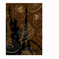 Coffe Break Cake Brown Sweet Original Large Garden Flag (two Sides) by Alisyart