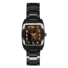 Coffe Break Cake Brown Sweet Original Stainless Steel Barrel Watch by Alisyart