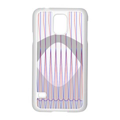 Crease Patterns Large Vases Blue Red Orange White Samsung Galaxy S5 Case (white)