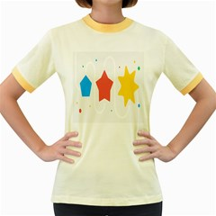 Evolution Jumsoft Star Women s Fitted Ringer T-shirts by Alisyart