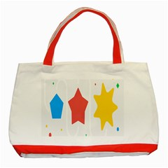 Evolution Jumsoft Star Classic Tote Bag (red) by Alisyart