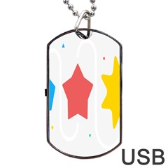 Evolution Jumsoft Star Dog Tag Usb Flash (one Side) by Alisyart