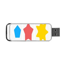 Evolution Jumsoft Star Portable Usb Flash (one Side) by Alisyart