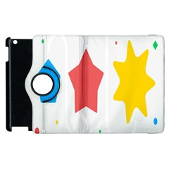 Evolution Jumsoft Star Apple Ipad 2 Flip 360 Case by Alisyart