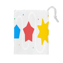 Evolution Jumsoft Star Drawstring Pouches (large)  by Alisyart