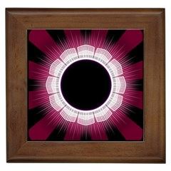 Circle Border Hole Black Red White Space Framed Tiles by Alisyart