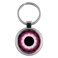 Circle Border Hole Black Red White Space Key Chains (round)  by Alisyart