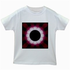 Circle Border Hole Black Red White Space Kids White T-shirts by Alisyart