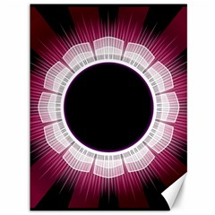 Circle Border Hole Black Red White Space Canvas 36  X 48