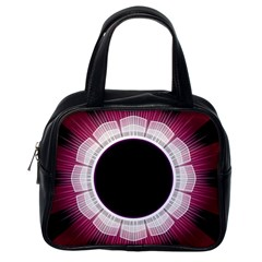 Circle Border Hole Black Red White Space Classic Handbags (one Side) by Alisyart