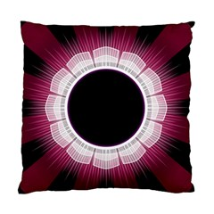Circle Border Hole Black Red White Space Standard Cushion Case (one Side) by Alisyart