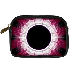 Circle Border Hole Black Red White Space Digital Camera Cases by Alisyart