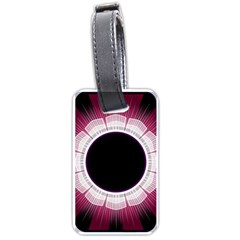 Circle Border Hole Black Red White Space Luggage Tags (two Sides) by Alisyart
