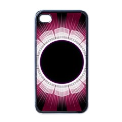 Circle Border Hole Black Red White Space Apple Iphone 4 Case (black) by Alisyart