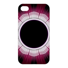 Circle Border Hole Black Red White Space Apple Iphone 4/4s Hardshell Case by Alisyart