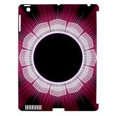 Circle Border Hole Black Red White Space Apple Ipad 3/4 Hardshell Case (compatible With Smart Cover) by Alisyart