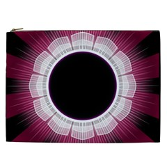 Circle Border Hole Black Red White Space Cosmetic Bag (xxl)  by Alisyart