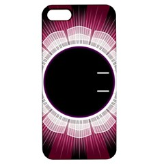 Circle Border Hole Black Red White Space Apple Iphone 5 Hardshell Case With Stand