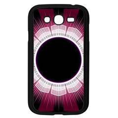 Circle Border Hole Black Red White Space Samsung Galaxy Grand Duos I9082 Case (black)