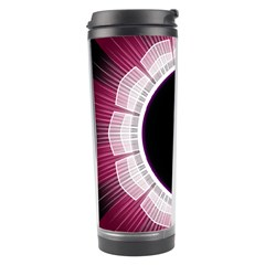 Circle Border Hole Black Red White Space Travel Tumbler