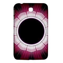 Circle Border Hole Black Red White Space Samsung Galaxy Tab 3 (7 ) P3200 Hardshell Case  by Alisyart