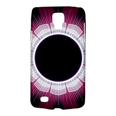 Circle Border Hole Black Red White Space Galaxy S4 Active