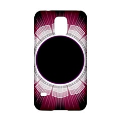 Circle Border Hole Black Red White Space Samsung Galaxy S5 Hardshell Case
