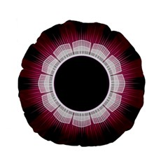 Circle Border Hole Black Red White Space Standard 15  Premium Flano Round Cushions by Alisyart