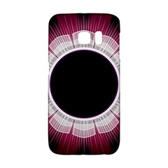 Circle Border Hole Black Red White Space Galaxy S6 Edge