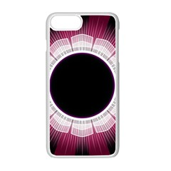 Circle Border Hole Black Red White Space Apple Iphone 7 Plus White Seamless Case by Alisyart