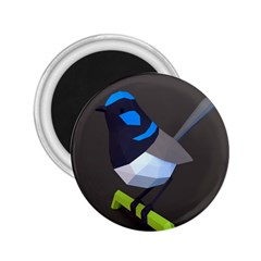 Animals Bird Green Ngray Black White Blue 2 25  Magnets