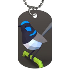 Animals Bird Green Ngray Black White Blue Dog Tag (one Side) by Alisyart