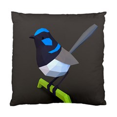 Animals Bird Green Ngray Black White Blue Standard Cushion Case (one Side) by Alisyart