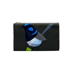 Animals Bird Green Ngray Black White Blue Cosmetic Bag (small)