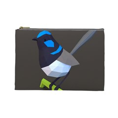 Animals Bird Green Ngray Black White Blue Cosmetic Bag (large)  by Alisyart