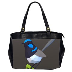 Animals Bird Green Ngray Black White Blue Office Handbags (2 Sides)  by Alisyart