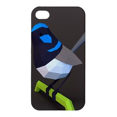 Animals Bird Green Ngray Black White Blue Apple Iphone 4/4s Hardshell Case by Alisyart