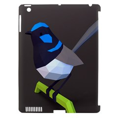 Animals Bird Green Ngray Black White Blue Apple Ipad 3/4 Hardshell Case (compatible With Smart Cover)
