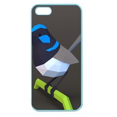 Animals Bird Green Ngray Black White Blue Apple Seamless Iphone 5 Case (color)